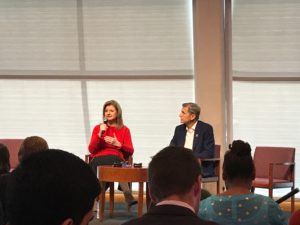 Arianna Huffington and Marc Pritchard at Global Citizen