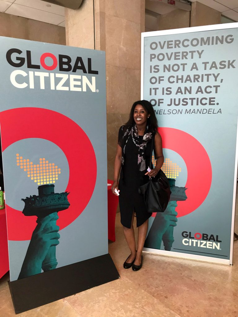 Mariama at Global Citizen